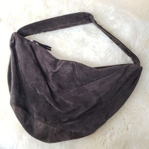 A/X Armani Exchange Brown Slouchy Suede Bag